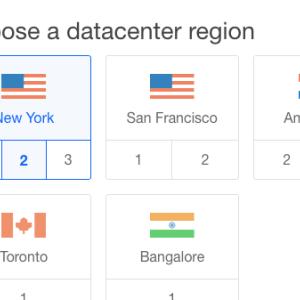 3. Choose a region for droplet